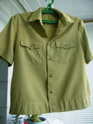 Рубаха офицера Советской Армии летняя с коротким рукавом СССР