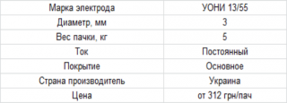 Электроды Вистек УОНИ 13/55 3