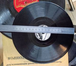 Пластинка Грампластинка Шеллак Толстая Твердая 25см 20см 15см 4