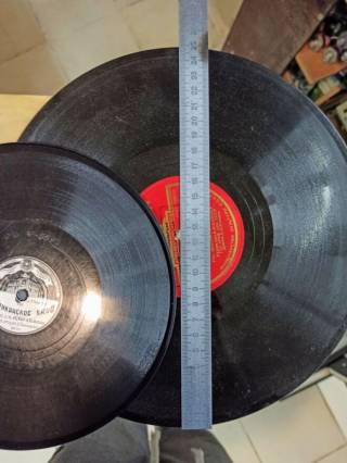 Пластинка Грампластинка Шеллак Толстая Твердая 25см 20см 15см 5