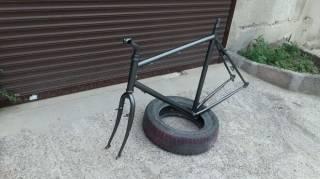 """Велосипедная рама под 28""""колеса с вилкой,рулевой,выносом и подседелом. 7"""
