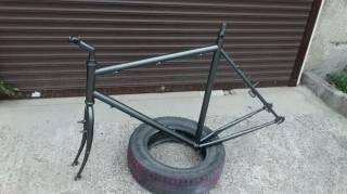 """Велосипедная рама под 28""""колеса с вилкой,рулевой,выносом и подседелом. 6"""