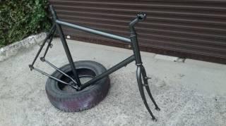 """Велосипедная рама под 28""""колеса с вилкой,рулевой,выносом и подседелом. 4"""