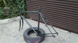 """Велосипедная рама под 28""""колеса с вилкой,рулевой,выносом и подседелом. 8"""