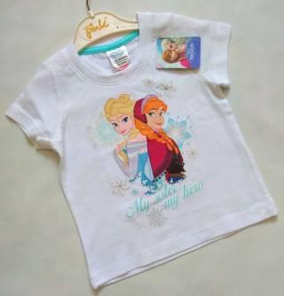 Белая футболка с Frozen Disney р. 18-24 мес