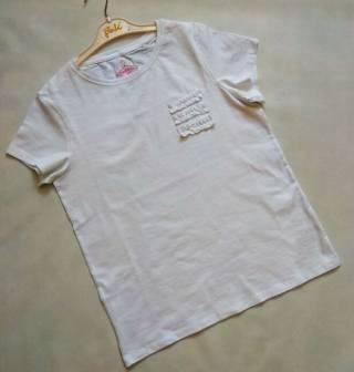 Белая футболка с рюшами Next р. 15 лет
