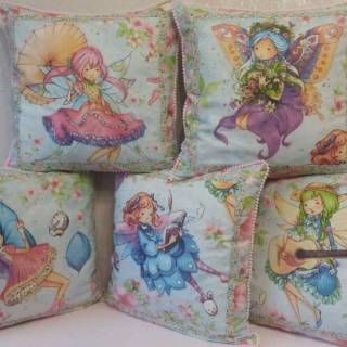 Подушка детская с феечками/ подушка дитяча з феями/ подушечка для дівч