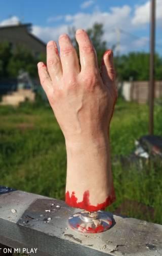 Муляж человеческого тела. Рука нога голова