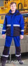 Мужской костюм для АЗС с антистатической нитью