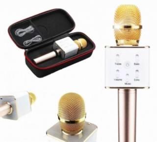 Портативный караоке-микрофон Q9 с динамиком + Чехол