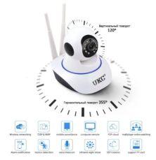 Беспроводная поворотная камера видеонаблюдения IP Camera UKC 6030 WiFi 3