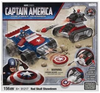 Конструктор 156 деталей. Капитан Америка против Красного Черепа, Mega 2
