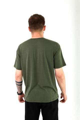 Мужская базовая хлопковая футболка прямого кроя в разных цветах 4