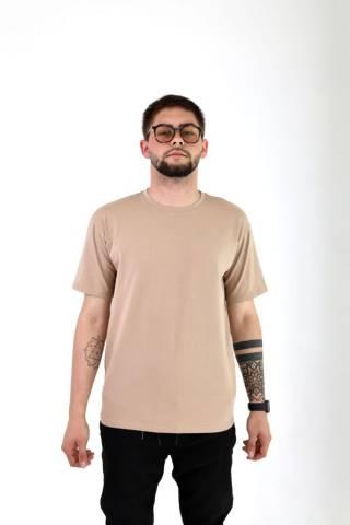 Мужская базовая хлопковая футболка прямого кроя в разных цветах 5