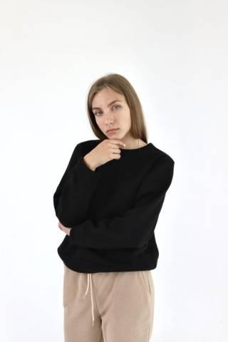 Женский базовый свитшот свитер трикотажный спортивный в разных цветах
