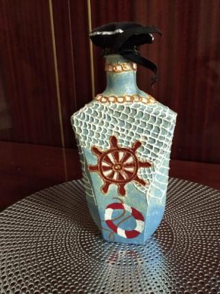 Декорирование   бутылок, ваз. 8