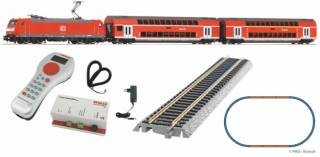 Цифра. Железная дорога Piko Пико. Двухэтажный пассажирский поезд DB AG 8