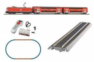 Цифра. Железная дорога Piko Пико. Двухэтажный пассажирский поезд DB AG