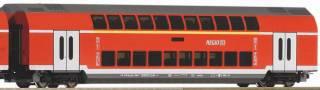 Цифра. Железная дорога Piko Пико. Двухэтажный пассажирский поезд DB AG 6