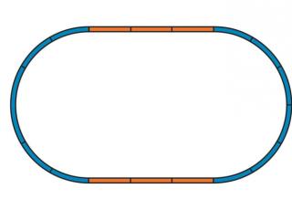 Цифра. Железная дорога Piko Пико. Двухэтажный пассажирский поезд DB AG 9