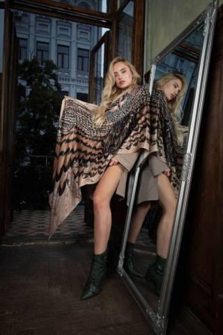 Шелковый платок Хустка з натурального шовку від бренду Zlitay 8