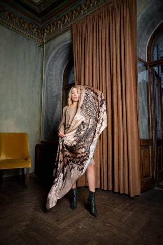 Шелковый платок Хустка з натурального шовку від бренду Zlitay 9