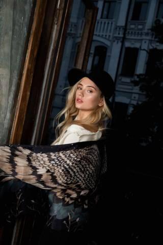Шелковый платок Хустка з натурального шовку від бренду Zlitay 10