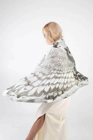 Шелковый платок Хустка з натурального шовку від бренду Zlitay 2