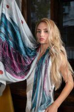 Шелковый платок Хустка з натурального шовку від бренду Zlitay 4