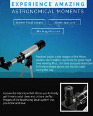 Телескоп юного астронома астрономический небольшой легкий простой в об 6