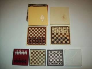 Шашки шахматы домино магнитные дорожные СССР 5