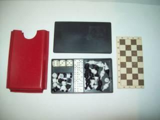 Шашки шахматы домино магнитные дорожные СССР 9