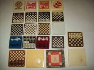 Шашки шахматы домино магнитные дорожные СССР 7