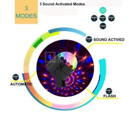 Диско-куля ( диско-шар) для вечірок з пультом та мікрофоном 2