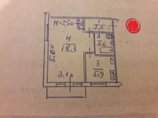 Продам 1-к квартиру м. Армейская 9