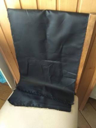 Черная плащевка остаток материала ткань