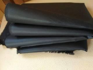 Черная плащевка остаток материала ткань 5