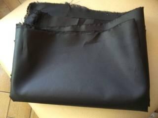 Черная плащевка остаток материала ткань 4