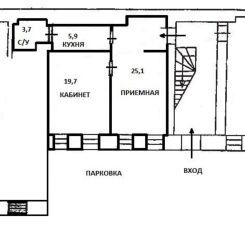 Крещатик, 55кв.м., VIP офис, приемная, первый этаж, парковка 8
