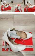 Свадебное платье из ткани с глиттером. В подарок свадебные туфли!!! 5