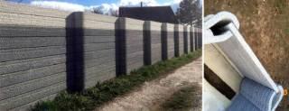 Крафтовый забор современный и стильный дизайн 3