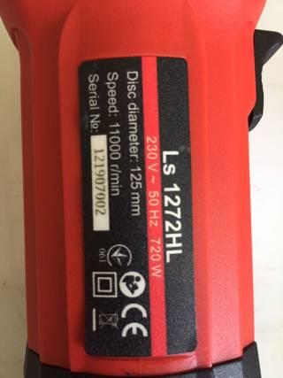 Угловая шлифовальная машина(болгарка)LS 1272 HL Vitals 3