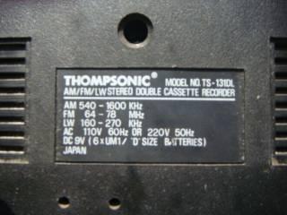 Магнитола Thompsonic TS-131DL двухкассетная неисправная 4