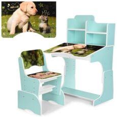 Детская парта со стульчиком B 2071-90-3 Котенок и щенок