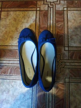 Синие балетки Graceland