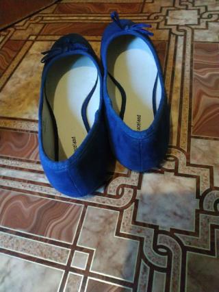 Синие балетки Graceland 2