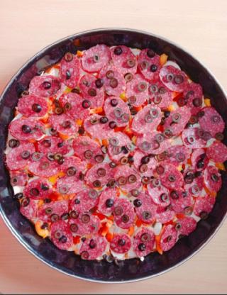 Пицца домашняя семейная 4