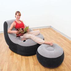 Надувное кресло с пуфиком 2