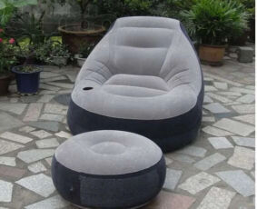 Надувное кресло с пуфиком 3
