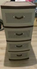 Большой комод вместительный на 4 ящика пластиковый новый не дорого 2